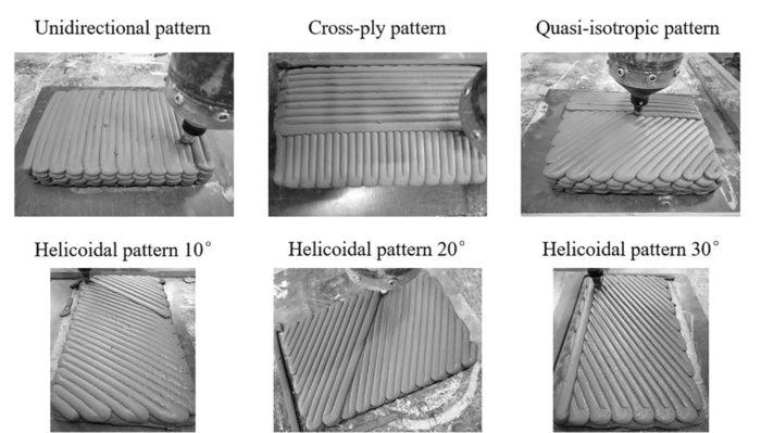 الگوی لایه ها در پرینتر سه بعدی بتن