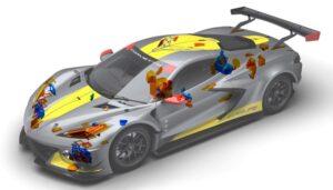 پرینت سه بعدی قطعات corvette